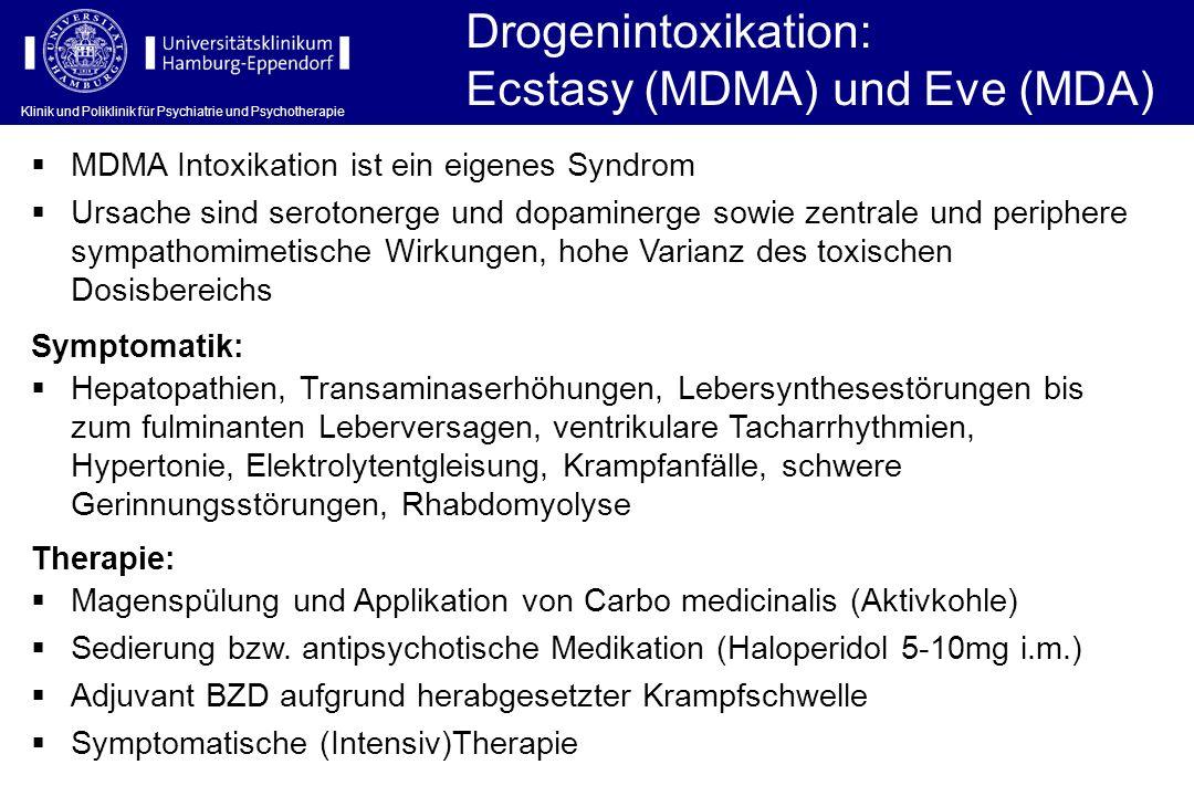 Ecstasy (MDMA) und Eve (MDA)