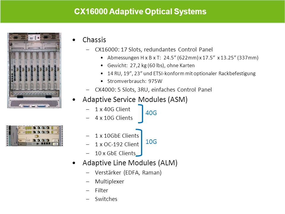 CX16000 Adaptive Optical Systems