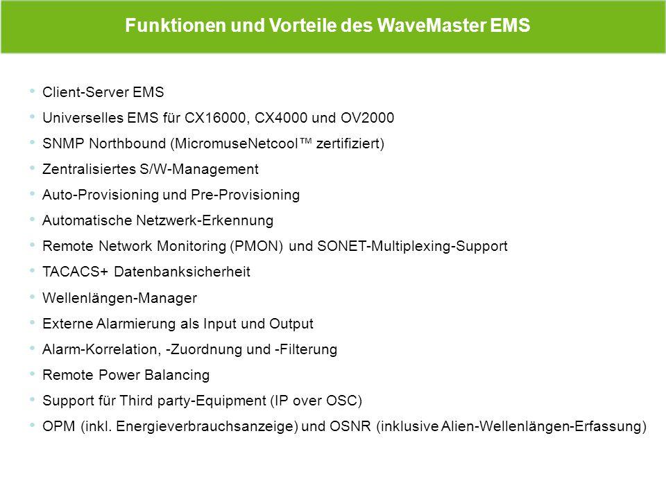 Funktionen und Vorteile des WaveMaster EMS