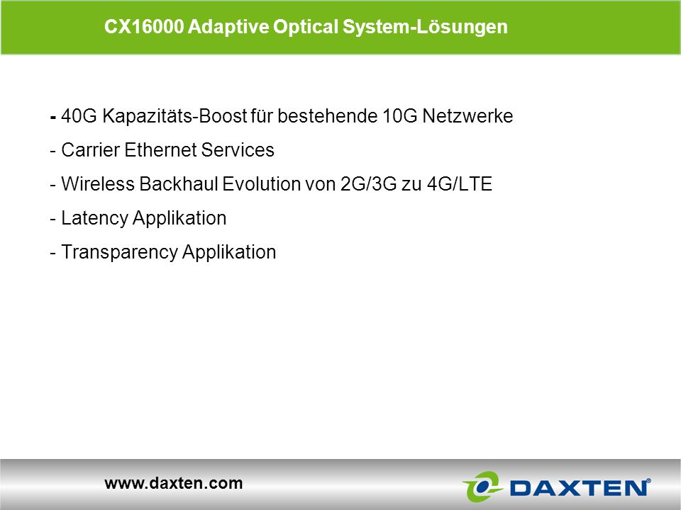 CX16000 Adaptive Optical System-Lösungen