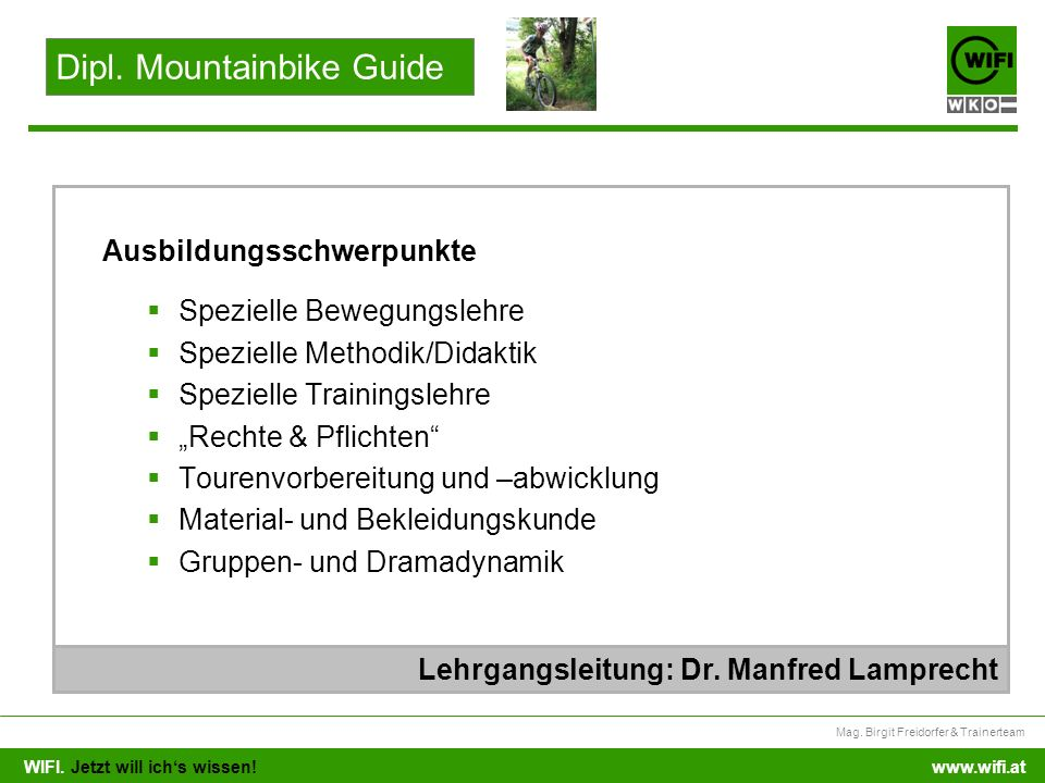 Dipl. Mountainbike Guide