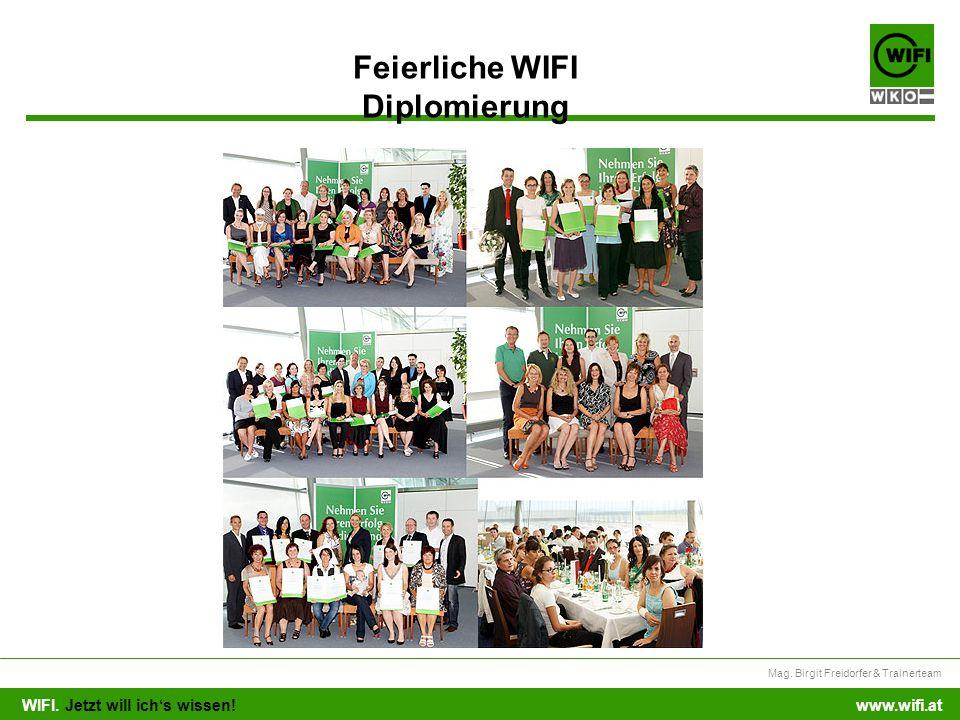Feierliche WIFI Diplomierung
