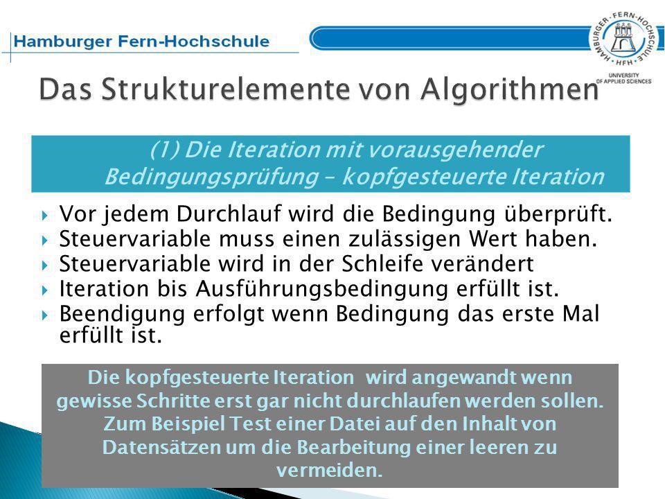 Das Strukturelemente von Algorithmen
