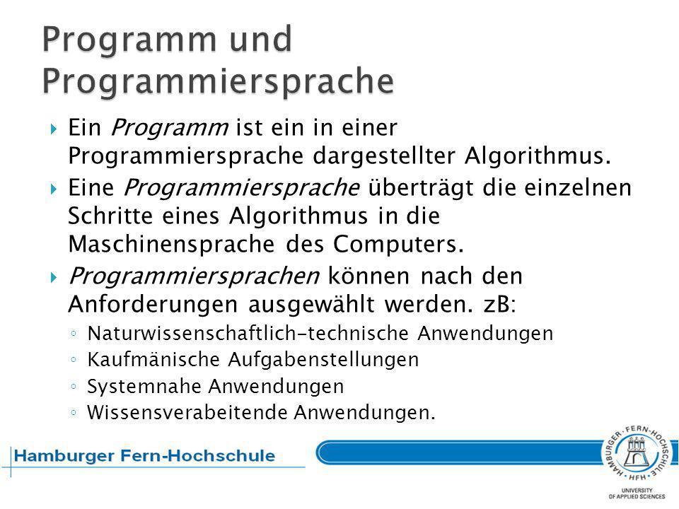 Programm und Programmiersprache