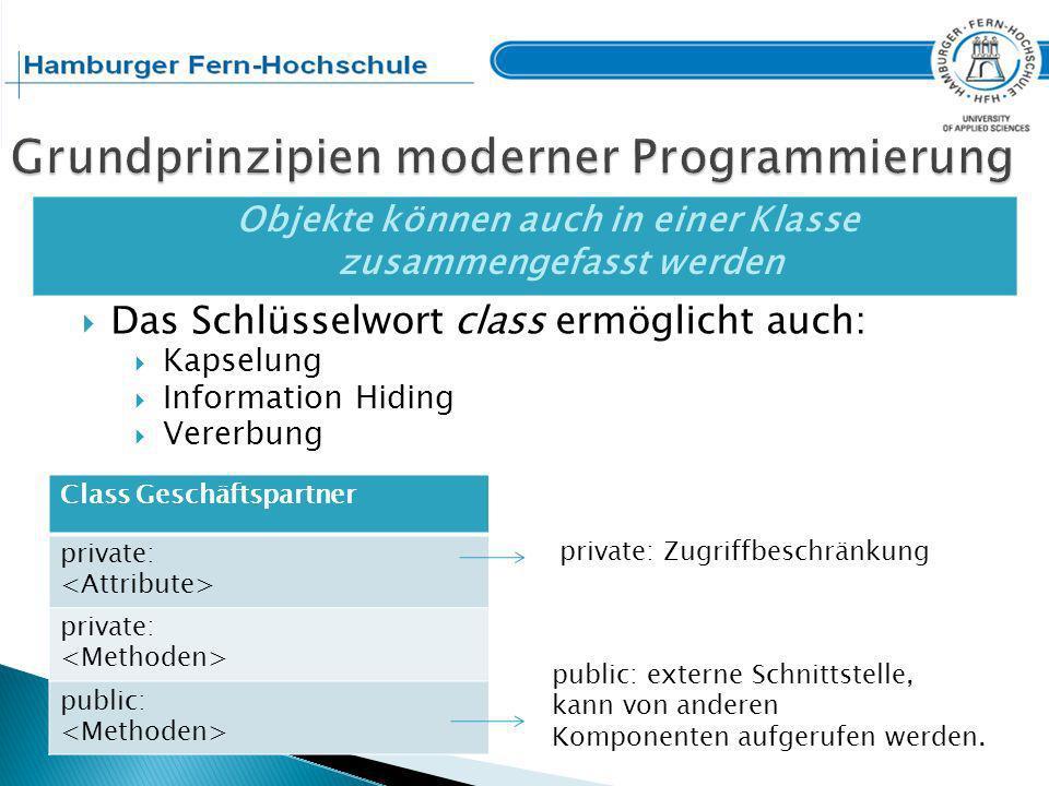 Grundprinzipien moderner Programmierung