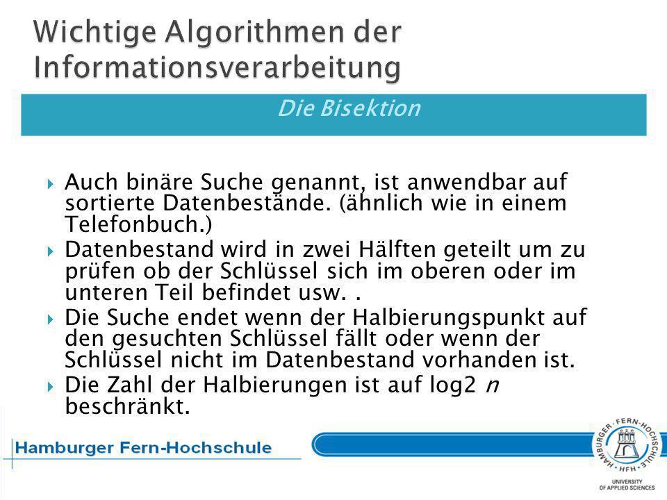 Wichtige Algorithmen der Informationsverarbeitung