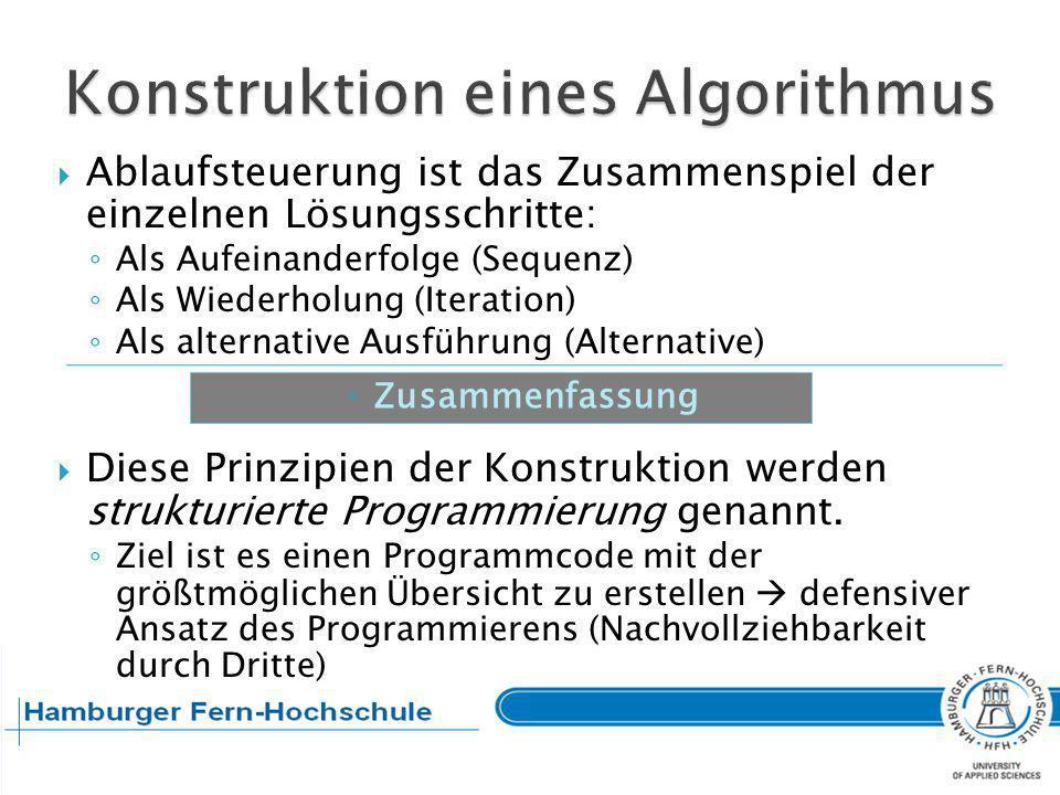 Konstruktion eines Algorithmus