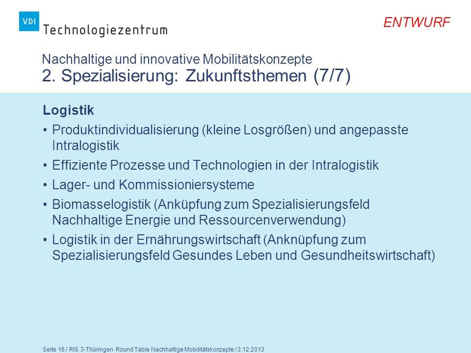 Nachhaltige und innovative Mobilitätskonzepte 2