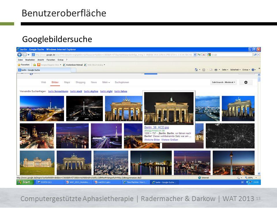 Benutzeroberfläche Googlebildersuche