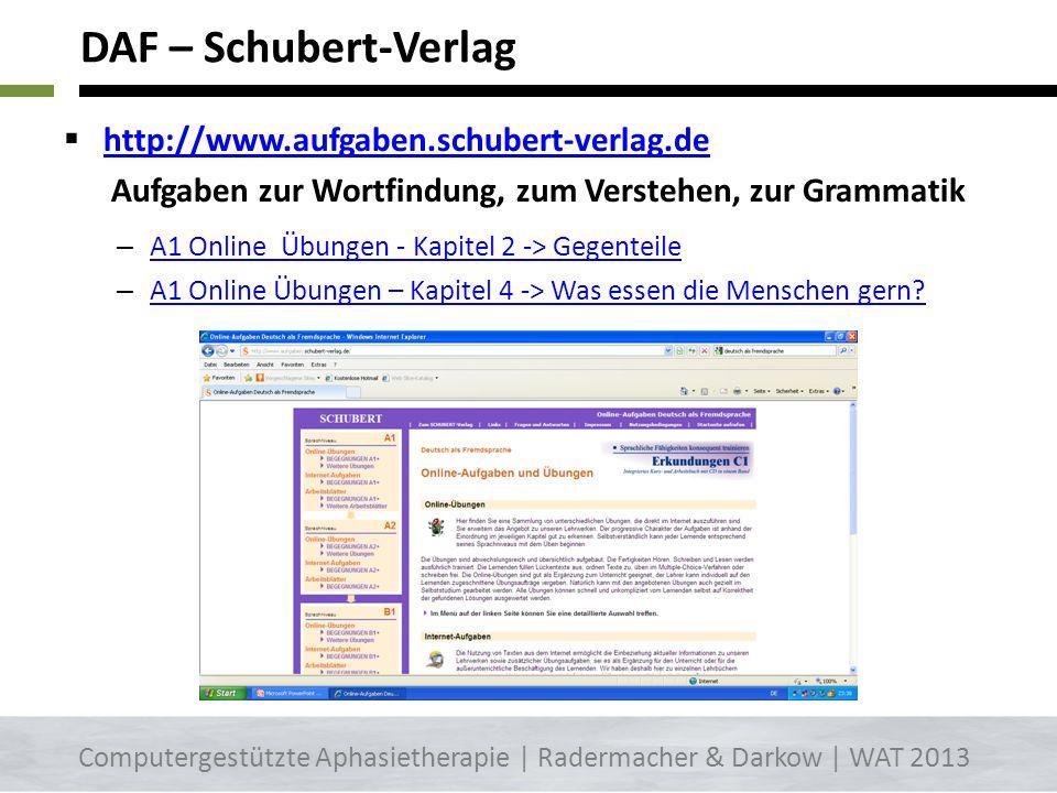 DAF – Schubert-Verlag http://www.aufgaben.schubert-verlag.de