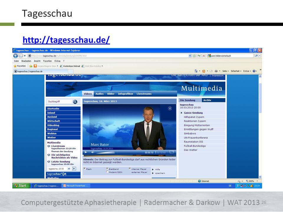 Tagesschau http://tagesschau.de/