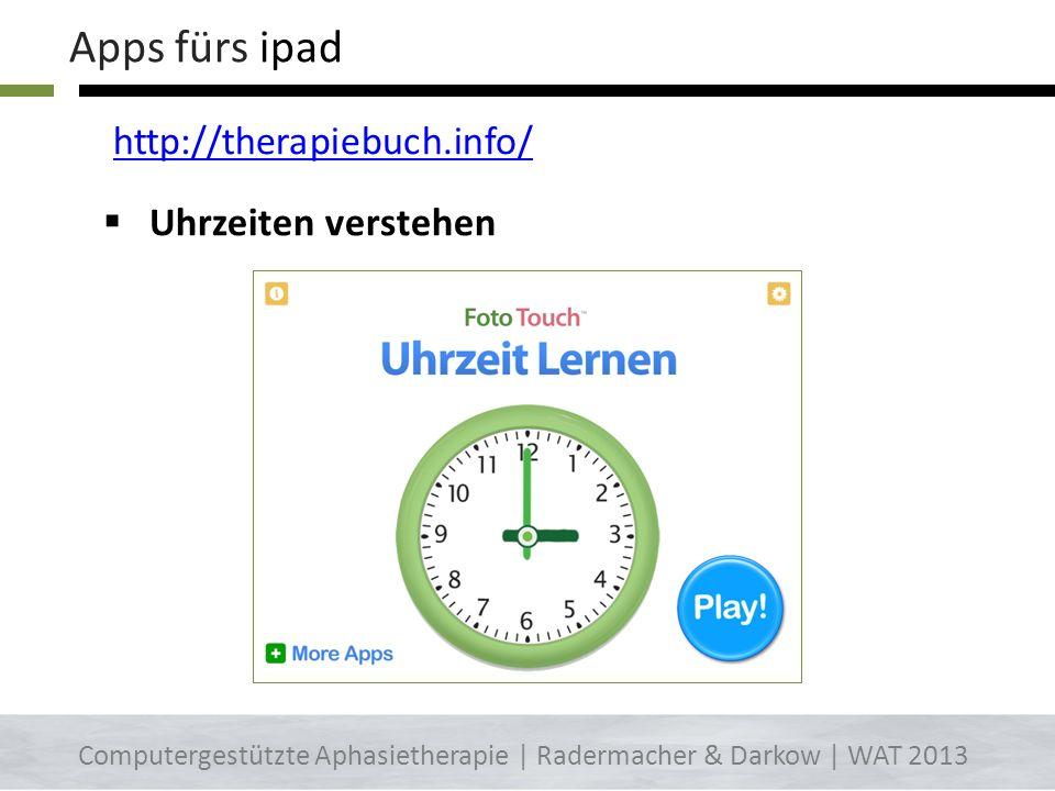 Apps fürs ipad http://therapiebuch.info/ Uhrzeiten verstehen