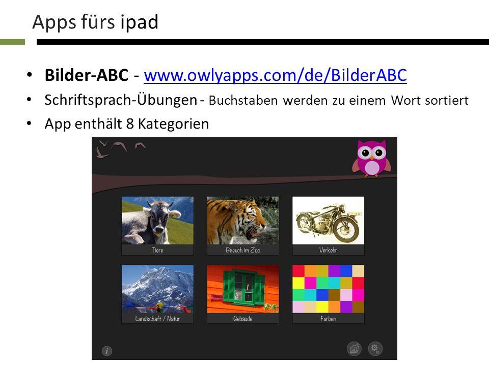 Apps fürs ipad Bilder-ABC - www.owlyapps.com/de/BilderABC