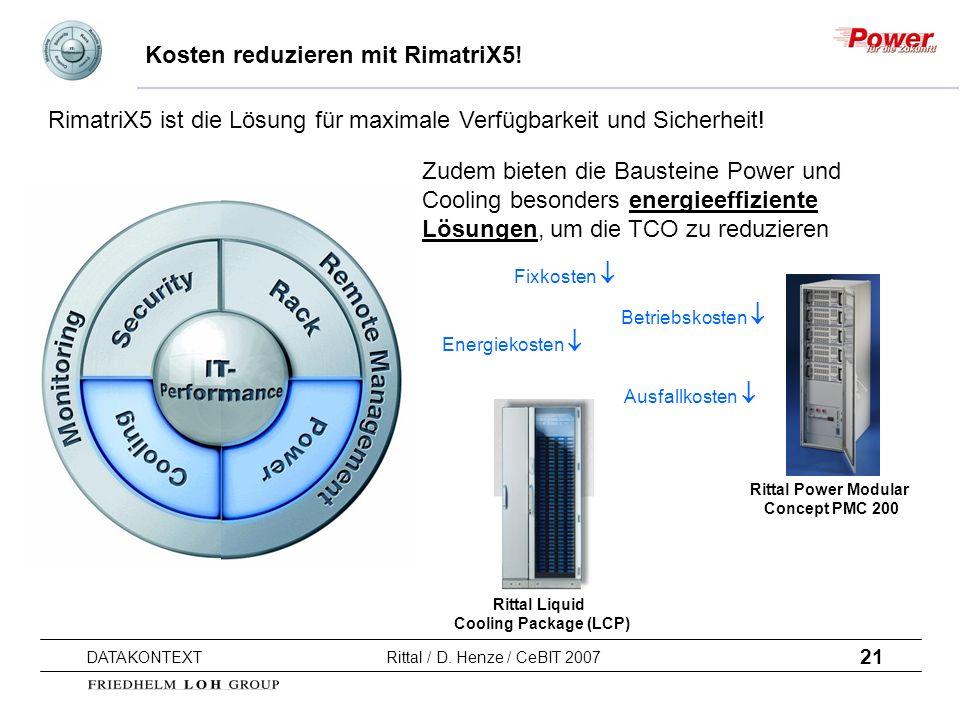 Kosten reduzieren mit RimatriX5!