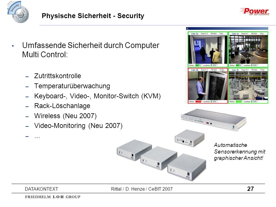 Physische Sicherheit - Security