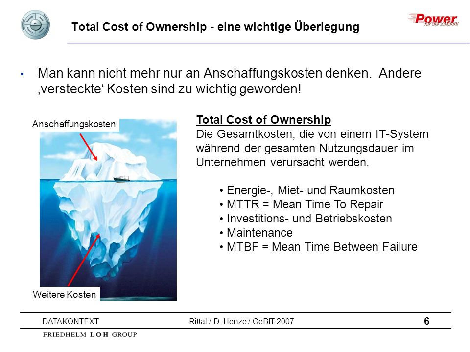 Total Cost of Ownership - eine wichtige Überlegung