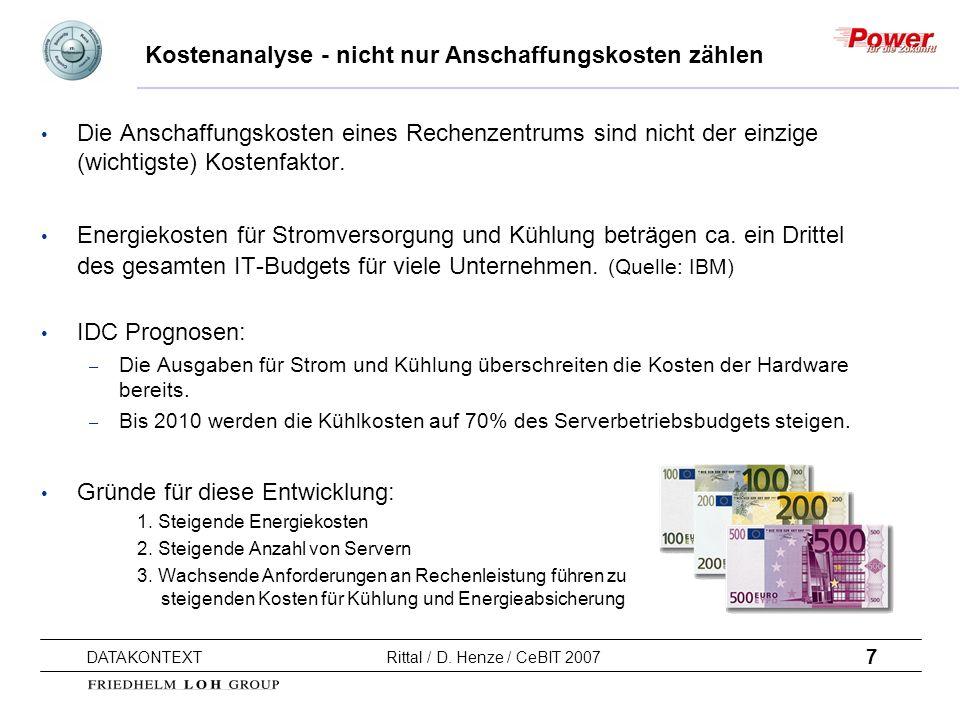 Kostenanalyse - nicht nur Anschaffungskosten zählen