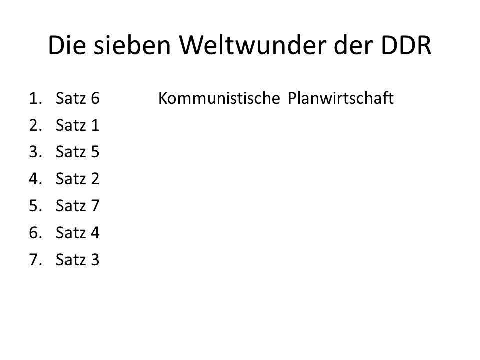 Die sieben Weltwunder der DDR