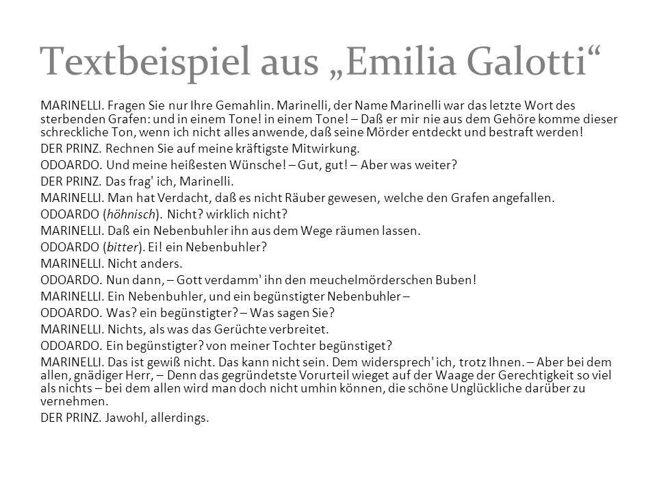 "Textbeispiel aus ""Emilia Galotti"