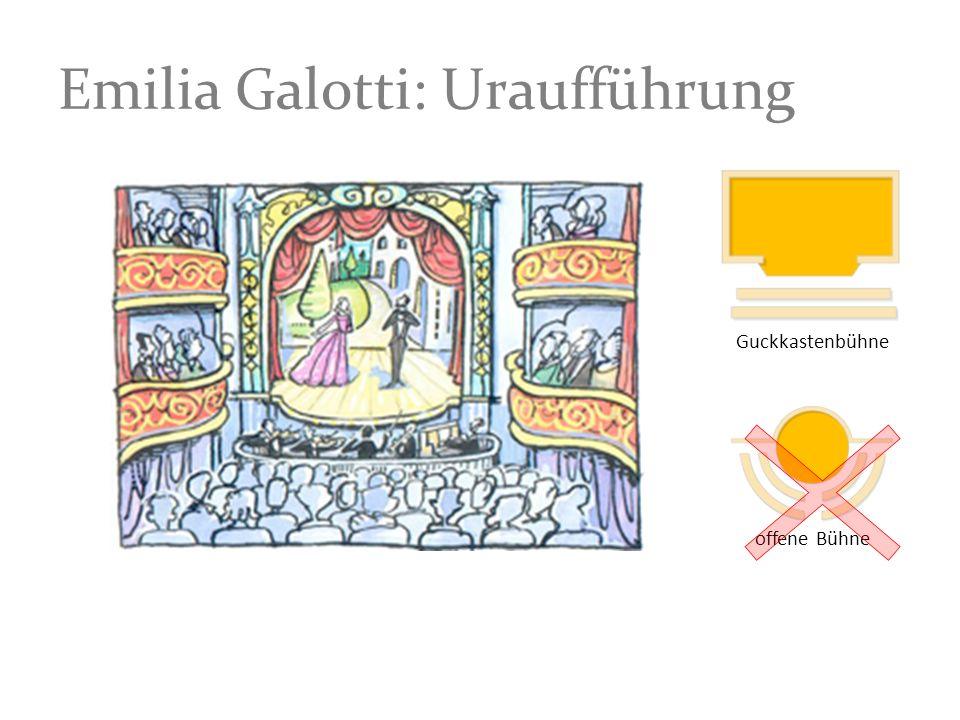 Emilia Galotti: Uraufführung