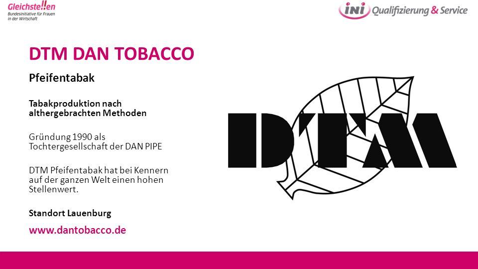 DTM DAN TOBACCO Pfeifentabak www.dantobacco.de
