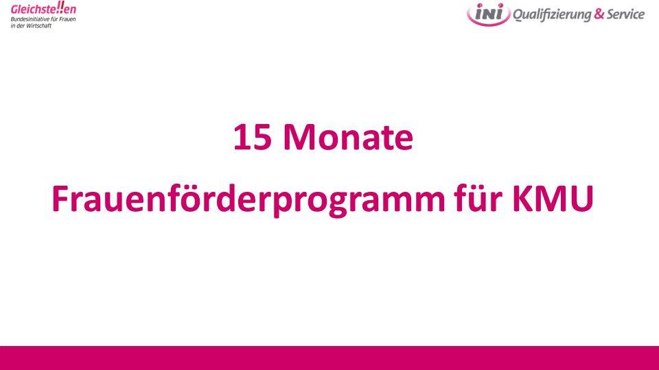 15 Monate Frauenförderprogramm für KMU