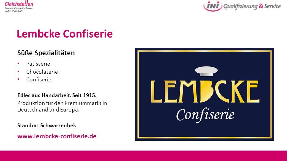Lembcke Confiserie Süße Spezialitäten www.lembcke-confiserie.de