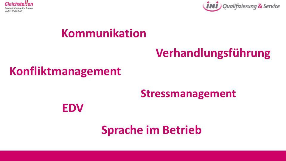 Kommunikation Verhandlungsführung Konfliktmanagement EDV