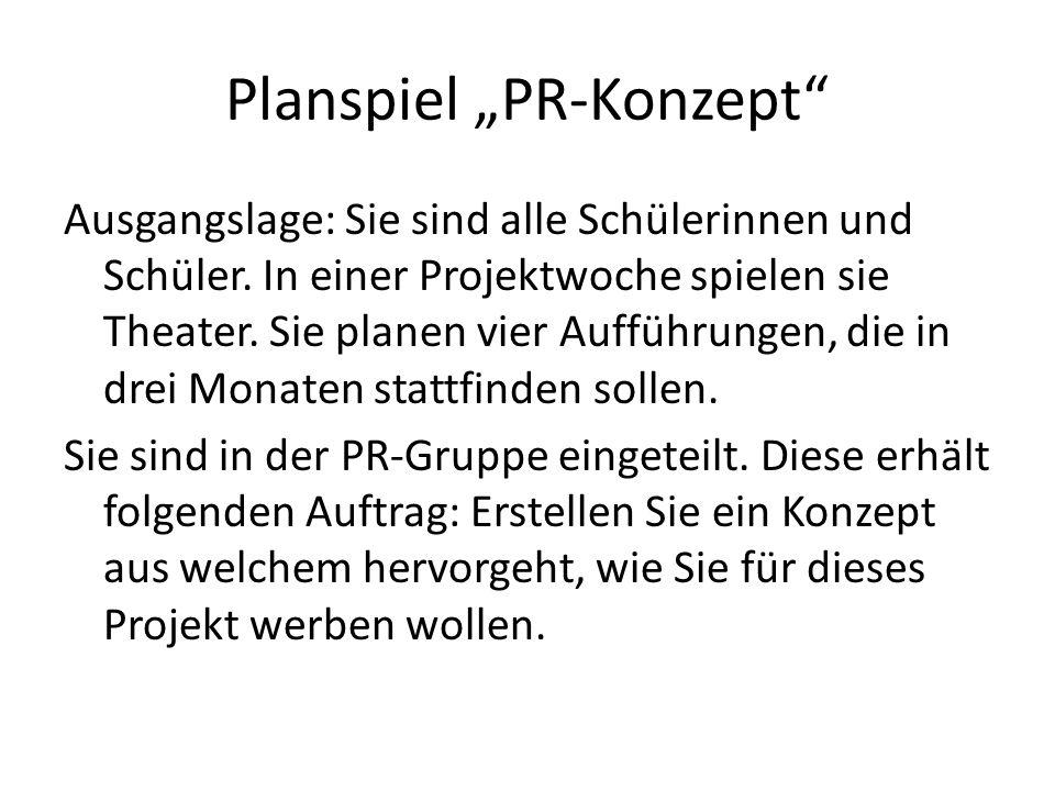 "Planspiel ""PR-Konzept"