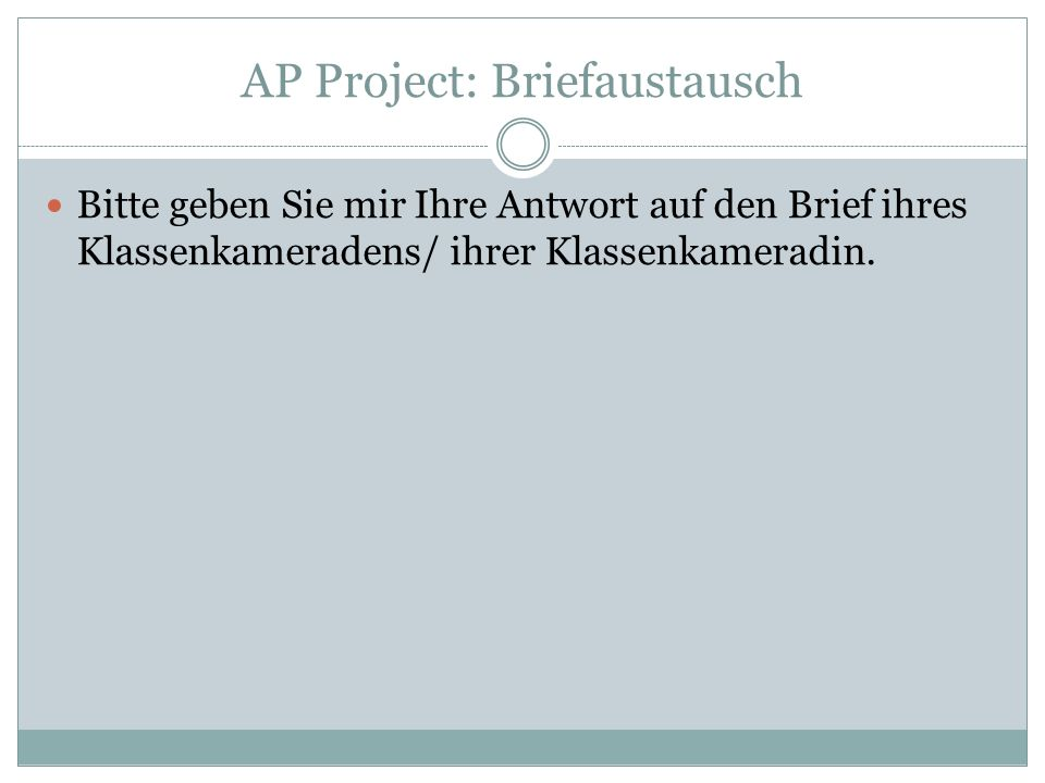 AP Project: Briefaustausch