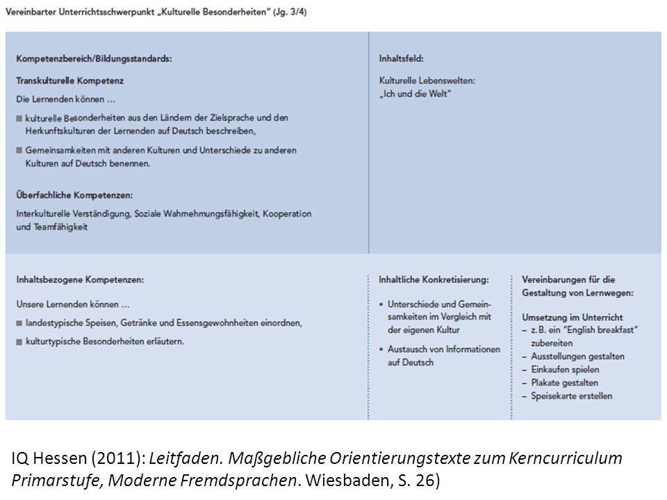 IQ Hessen (2011): Leitfaden