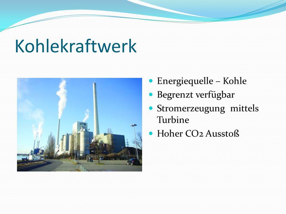 Kohlekraftwerk Energiequelle – Kohle Begrenzt verfügbar