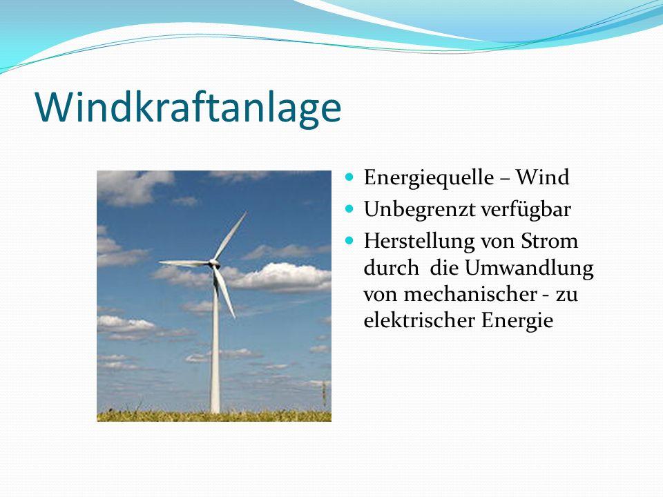Windkraftanlage Energiequelle – Wind Unbegrenzt verfügbar