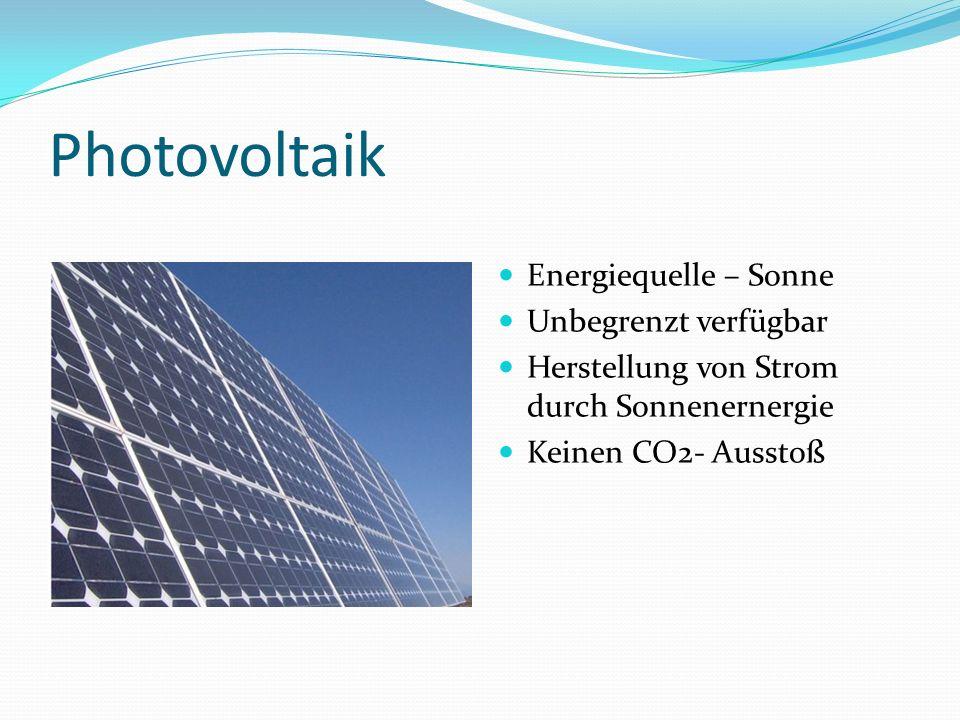 Photovoltaik Energiequelle – Sonne Unbegrenzt verfügbar