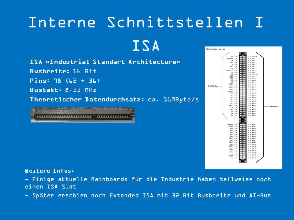Interne Schnittstellen I ISA