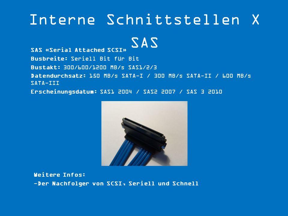 Interne Schnittstellen X SAS