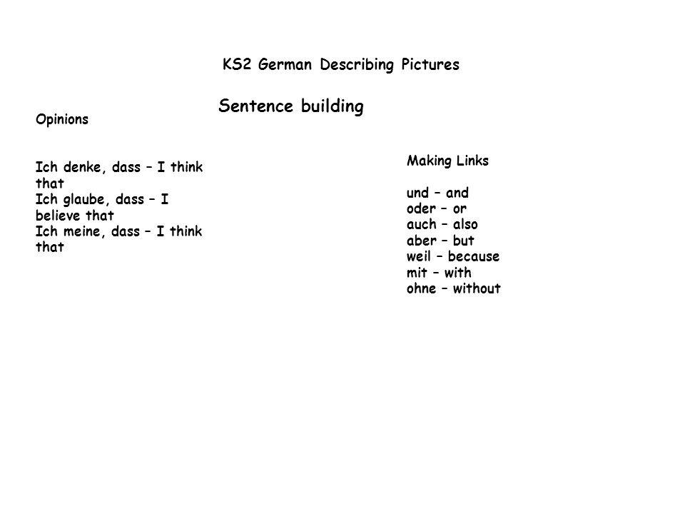 KS2 German Describing Pictures