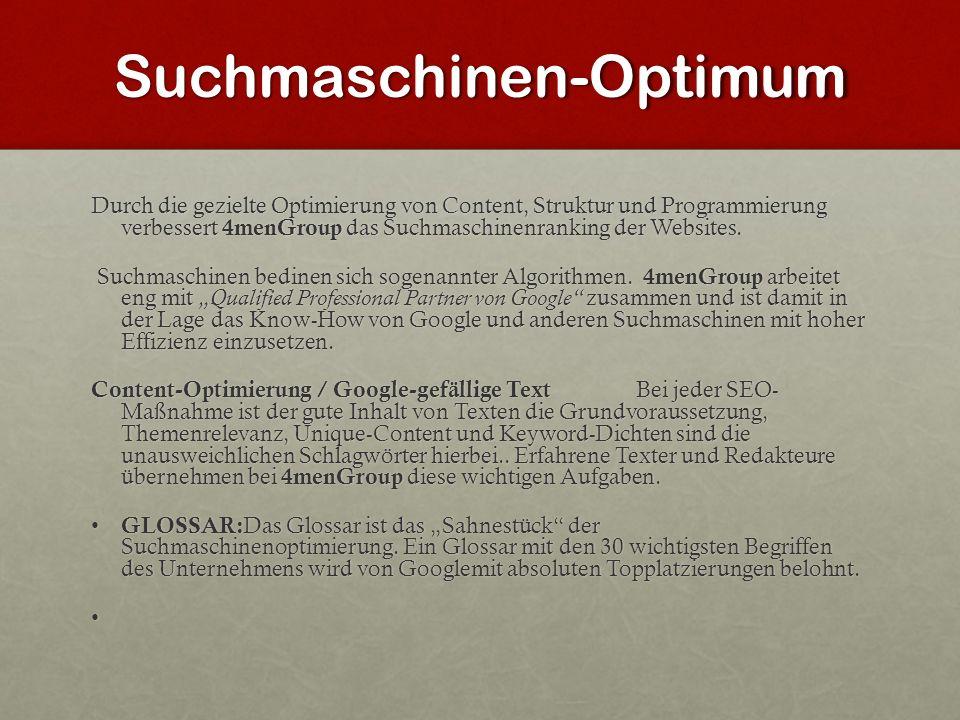 Suchmaschinen-Optimum