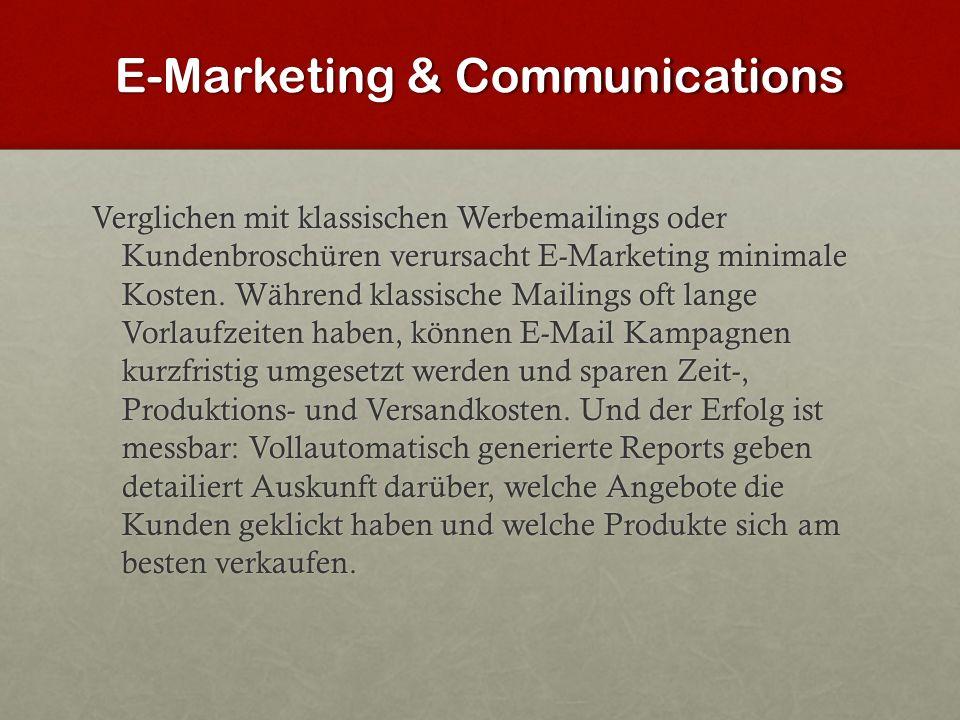 E-Marketing & Communications