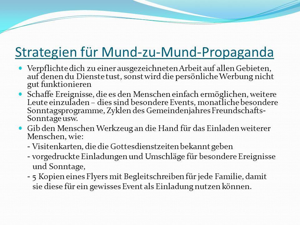 Strategien für Mund-zu-Mund-Propaganda