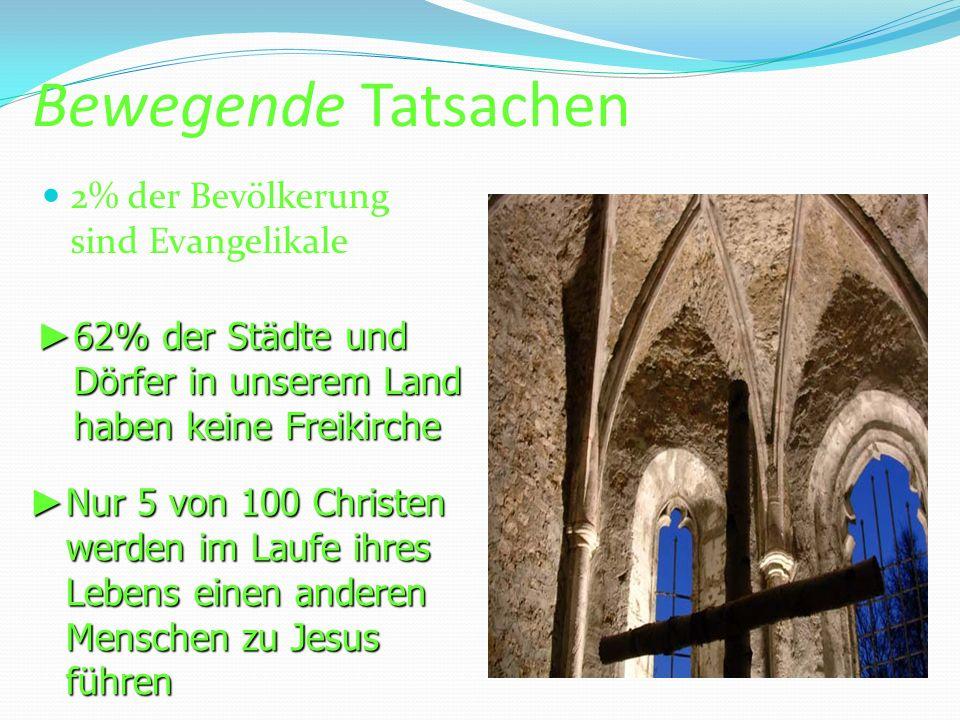 Bewegende Tatsachen 2% der Bevölkerung sind Evangelikale