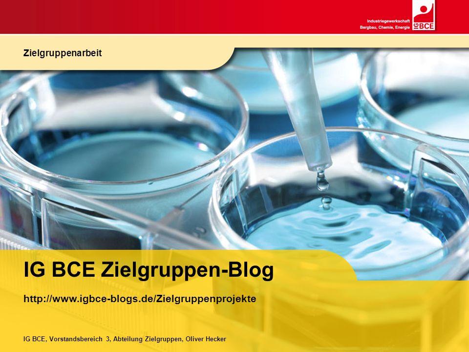 IG BCE Zielgruppen-Blog