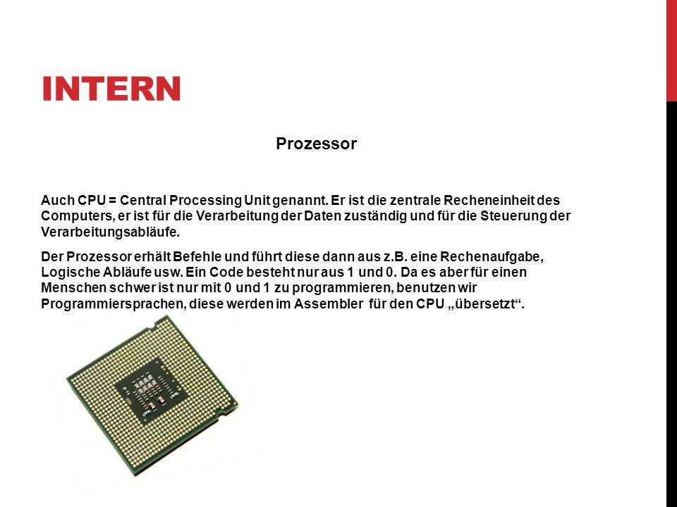 Intern Prozessor.