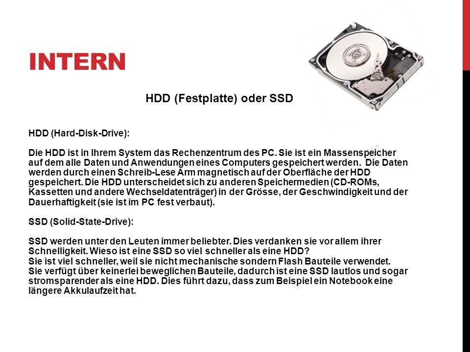 HDD (Festplatte) oder SSD