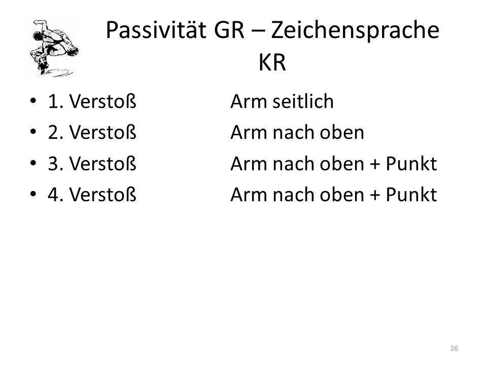 Passivität GR – Zeichensprache KR