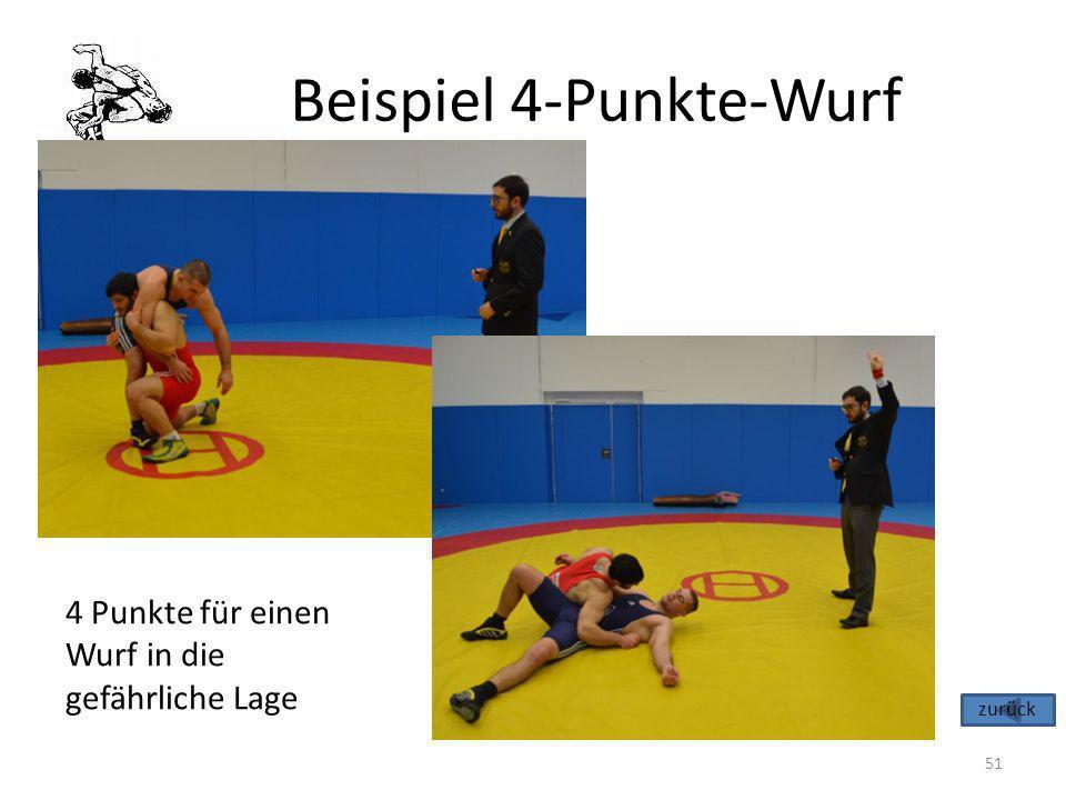 Beispiel 4-Punkte-Wurf
