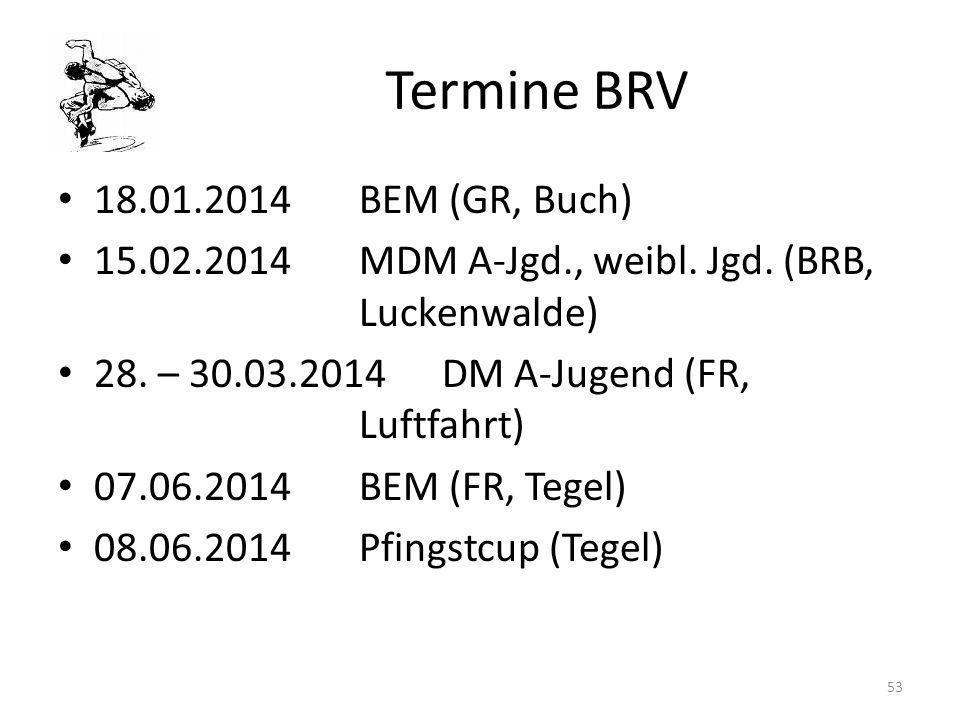 Termine BRV 18.01.2014 BEM (GR, Buch)