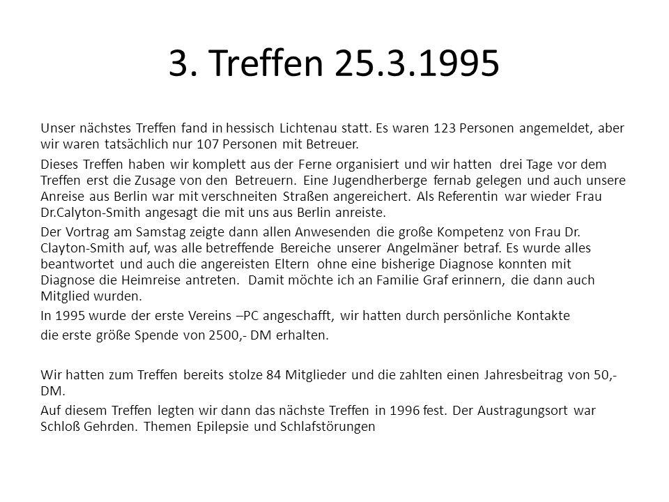 3. Treffen 25.3.1995