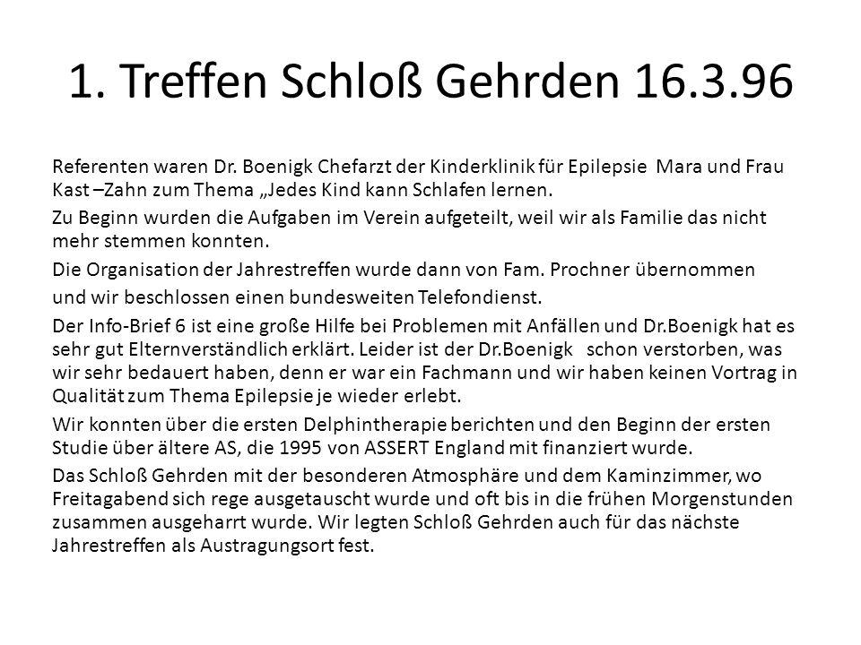 1. Treffen Schloß Gehrden 16.3.96