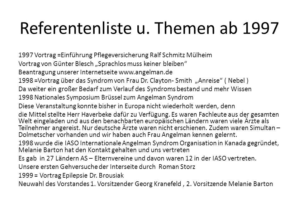 Referentenliste u. Themen ab 1997